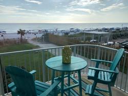 Balcony overlooking the Gulf