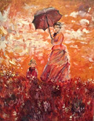 "Reproduction of Monet's ""Woman with a Parasol"""