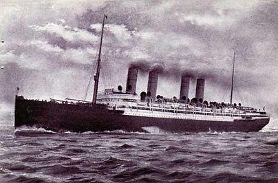 SS Deutschland steamship ocean liner cruising