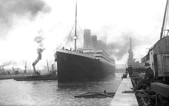 RMS Titanic docked Liverpool maiden voyage