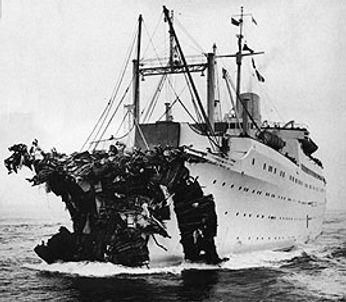 SS Stockholm collision damage
