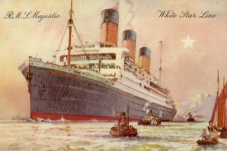 Painting of the RMS Majestic White Star Line