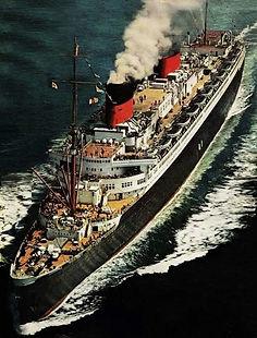 SS Liberte painting ocean liner steam ship