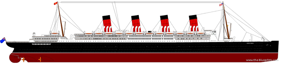 RMS Aquitania elevation