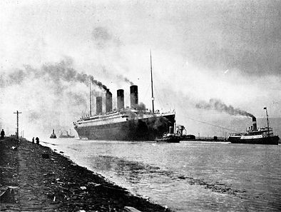 RMS Titanic returning from triumphant sea trials