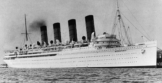 RMS Mauretania ocean liner steamship 1930s