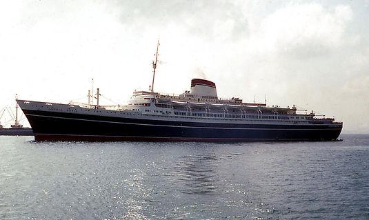 SS Andrea Doria steam ship ocean liner sailing at sea