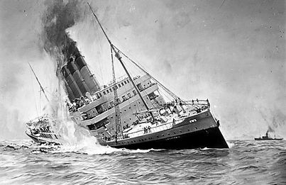 RMS Lusitania steam ship ocean liner sinking
