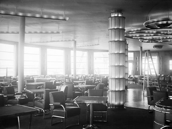 SS_Normandie First Class Bar Grill Interior First Class