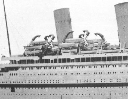 HMHS Brittanic hospital ship lifeboat davits Titanic design changes