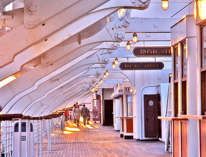 RMS Queen Mary Starboard Deck ocean liner steam ship hotel