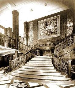 SS Rex main staircase interior