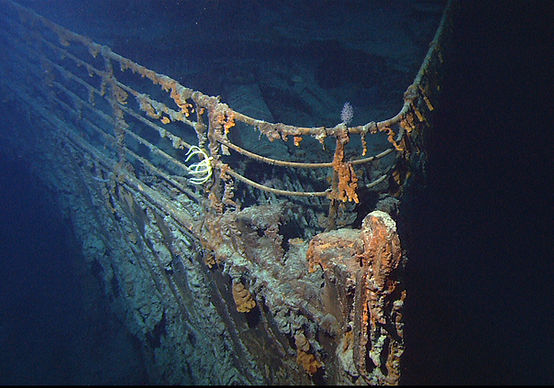 RMS Titanic wreck bow rusticles