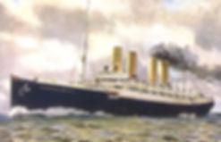 SS Kaiser Wilhelm der Grosse ocean liner painting Germany