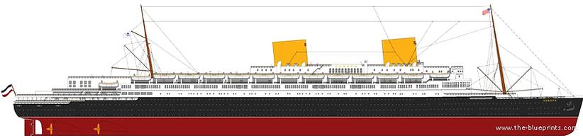 SS Europa Elevation Drawing