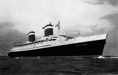 SS United States steam ship ocean liner Blue Riband at sea