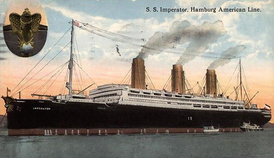 Postcard of the SS Imperator HAPAG