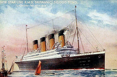 Brittanic steamship ocean liner postcard
