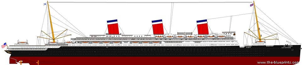 RMS Queen Mary Elevaton Drawing