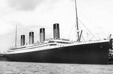 RMS Titanic steamship ocean liner docked maiden voyage