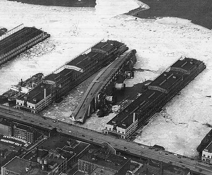 Capsized SS Normandie 1942 Hudson River New York City