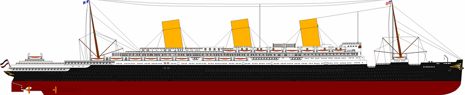 SS Bismarck RMS Majestic Elevation drawing