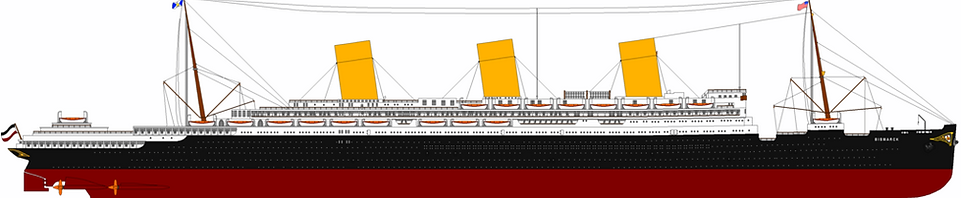 SS Imperator RMS Berengaria Elevation drawing