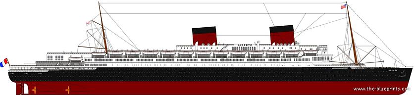 SS Liberte Elevation Drawing