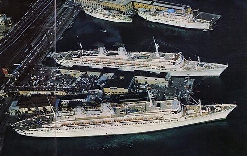 SS Raffaello and SS Micghlangelo Docked
