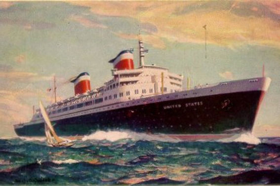 SS United States Ocean Liner Steam Ship Art