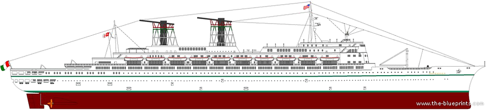 SS Raffaello Elevation Drawing