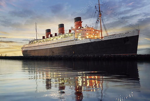 RMS Queen Mary ocean liner steam ship hotel Long Beach CA