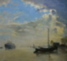 SS Bremen painting ocean liner steam ship