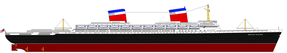 SS United States Elevation Drawing