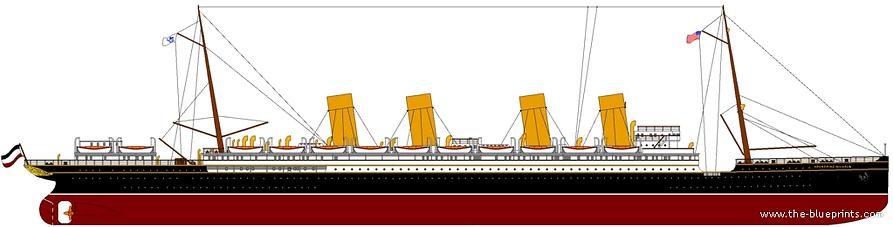 SS Kronprinz Wilhelm elevation