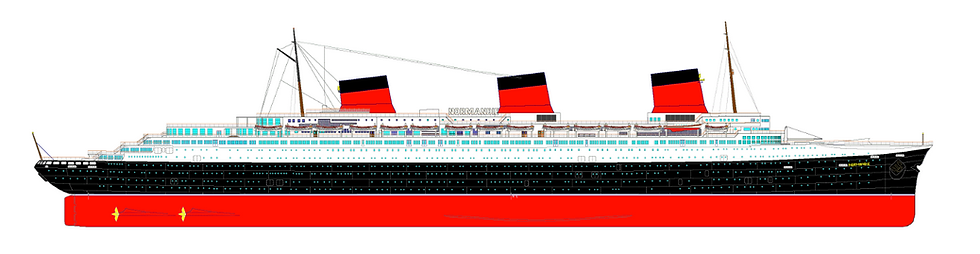 SS Normandie Elevaton Drawing
