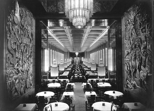 SS Normandie Interior Main Dining Hall Art Deco French