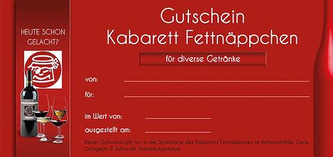 Gutschein für diverse Getränke im Kabarett Fettnäppchen