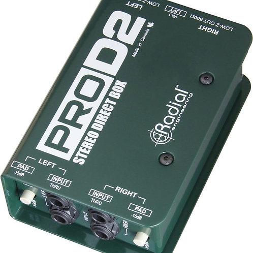 Radial D2 Passive 2Ch DI Box