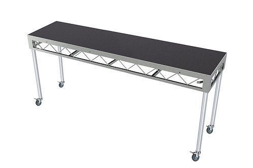 DJ Table 2400x600 Incl. 900mm Rolling Castors