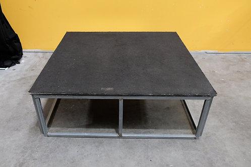 (Bulk Lot) Folding Frame Stage With Black Carpet Tops 1.2m x 1.2m @ 400mm High