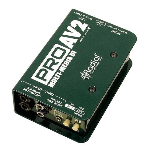 Radial AV2 Passive 2Ch DI Box
