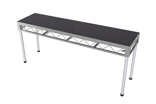 DJ Table 2400x600 Incl. 900mm Stage Legs