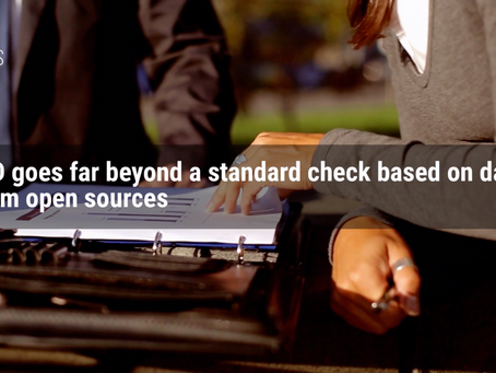 What if a standard check based on data from open sources is not enough to make a decision?