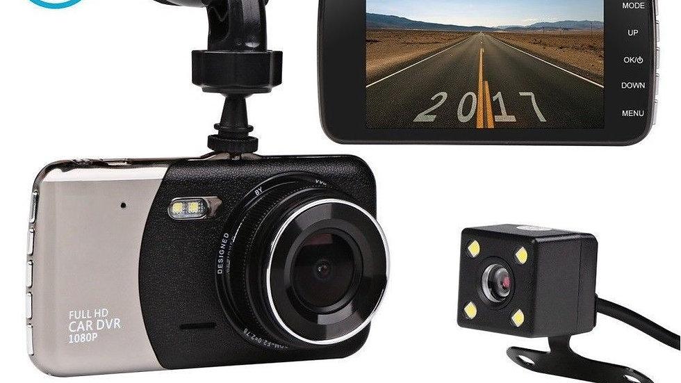 """Dual Lens Camera HD 1080P 170° Car DVR Video Dash Cam Front Rear Recorder 4"""""""