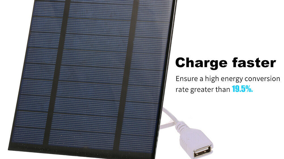 Portable Solar Charger With USB Port