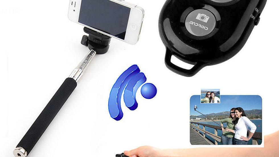 SELFIE STICK BLUETOOTH REMOTE CAMERA SHUTTER iPhone SAMSUNG HTC