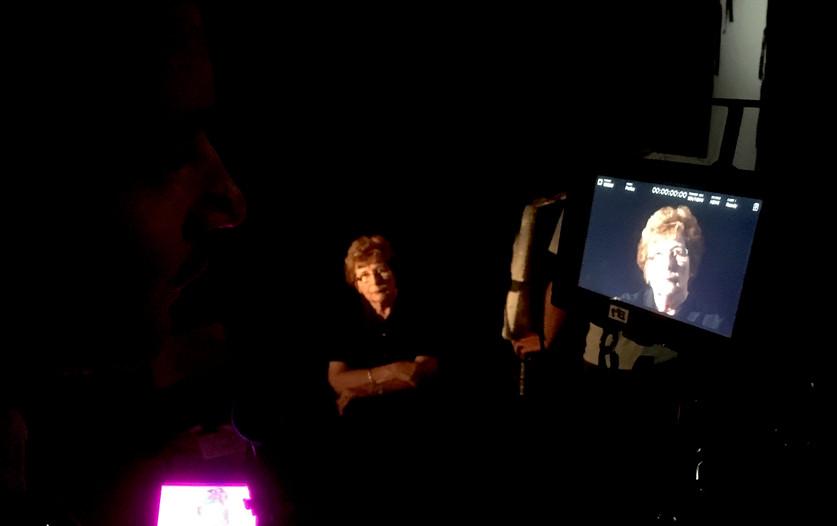 Production set of documentary