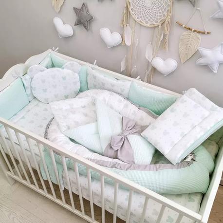 Pościel dla niemowląt 12 el. komplet do łóżeczka Miki