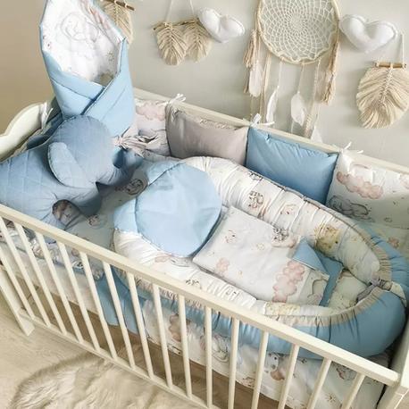 Zestaw do łóżeczka dla noworodka - leśne zwierzęta